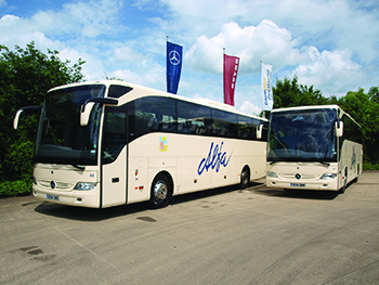 Two of the fleet from Alfa Coaches, based in Chorley Lancashire.