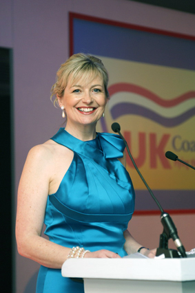 Awards compere Carol Kirkwood